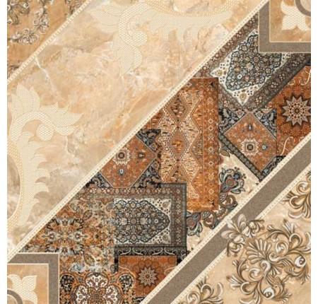 Плитка напольная InterCerama Carpets темно-коричневый 032 43х43 (м.кв)