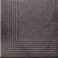 Клинкер Opoczno Solar Graphite Steptread Corner Structura 30x30 (шт)