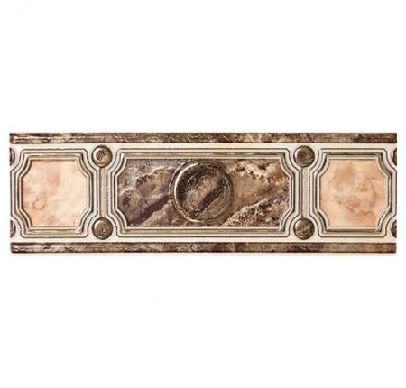 Бордюр широкий InterCerama Pietra коричневый 031 7,5х23 (шт)