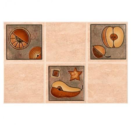 Декор настенный InterCerama Lucia темно-бежевый 022-2 23х35 (шт)