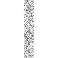 Бордюр вертикальный InterCerama Brina серый 071 7х40 (шт)