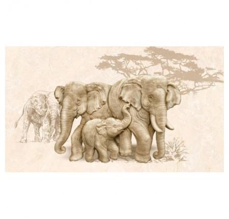 Декор настенный InterCerama Safari 031 коричневый 23х40 (шт)