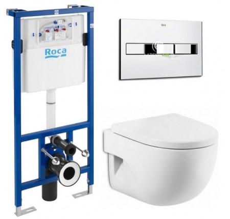 Комплект инсталляция Roca Pro A890096001 + унитаз MERIDIAN-N Compacto A34H248000 кнопка Pro