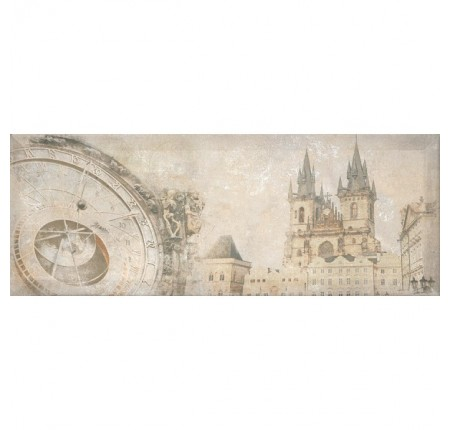 Декор настенный InterCerama Antica серый 072-1 15х40 (шт)