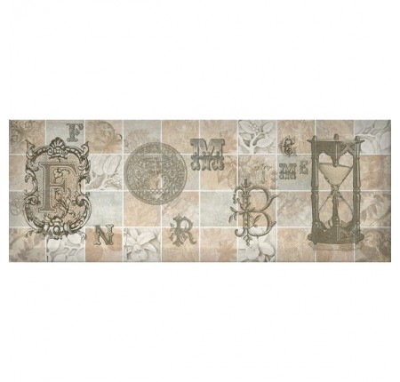 Декор настенный InterCerama Antica серый 072-4 15х40 (шт)