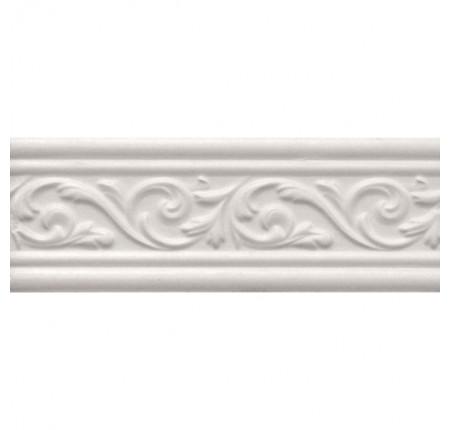 Бордюр широкий InterCerama Arabesco белый 061 17,5х23 (шт)
