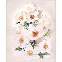 Декор настенный Cersanit Rensoria цветок 50x40 (компл 2 шт)
