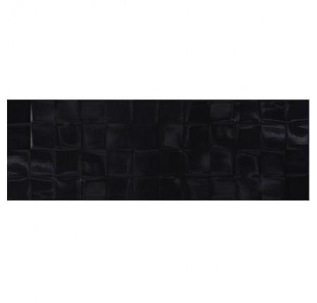 Плитка настенная Cersanit Simple Art Black Glossy Structure Cubes 20x60 (м.кв)