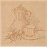 Декор настенный Atem Imola Tea B 100x100 (шт)