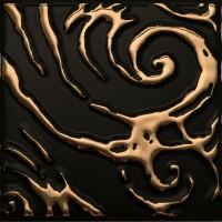 Декор настенный Atem Orly Versus BK Gold 100x100 (шт)