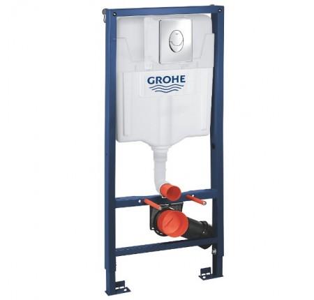 Инсталляция Grohe Rapid SL 38721001 4 в 1, клавиша хром