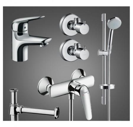 Набор для ванной комнаты Hansgrohe Novus 100 710362775 для душа 5 в 1
