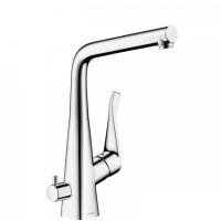 Cмеситель кухонный Hansgrohe Metris 14888000, с запорным вентилем для посудомоечной машины