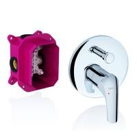 Смеситель скрытого монтажа для ванны, душа Ravak Rosa RS 065.00 для R-box