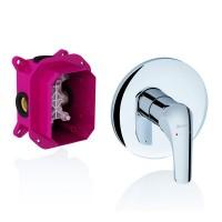 Смеситель скрытого монтажа для ванны, душа Ravak Rosa RS 066.00 для R-box без переключателя