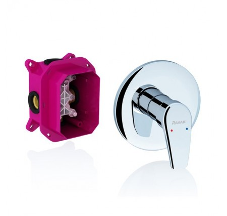 Смеситель скрытого монтажа для ванны, душа Ravak Neo NO 066.00 для R-box без переключателя