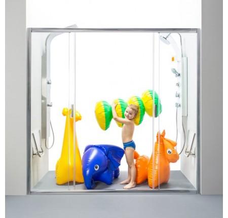 Душевая дверь Ravak Blix BLDP4-130 0YVJ0C00Z1 полир.алюминий+transparent