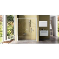 Душевая дверь Ravak Rapier NRDP4-140 0ONM0100Z1 белый+transparent