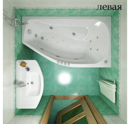 Ванна асимметричная Triton Скарлет 167х96 левая / правая