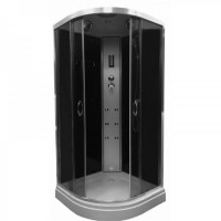 Гидромассажный бокс Atlantis AKL1325P-T 80x80x215 черный / белый
