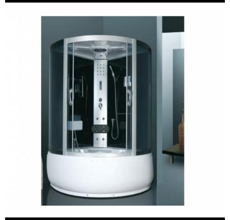 Гидромассажный бокс Atlantis AKL-1316M 120x120x215 черный / белый