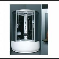 Гидромассажный бокс Atlantis AKL-1317M 130x130x215 черный / белый