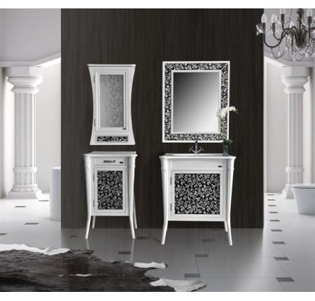 Мебель в ванную комнату Ольвия (Атолл) Valensia 75 bianco (комплект)