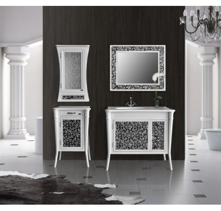 Мебель в ванную комнату Ольвия (Атолл) Valensia 100 bianco (комплект)