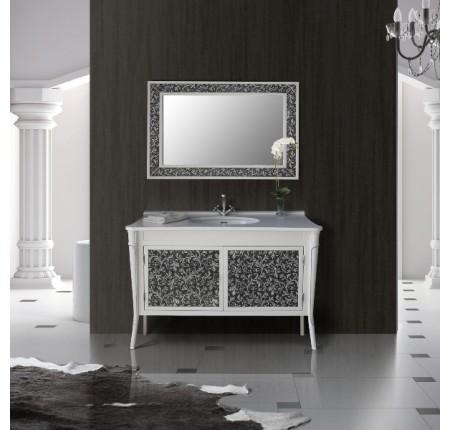 Мебель в ванную комнату Ольвия (Атолл) Valensia 130 bianco (комплект)