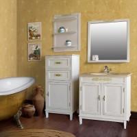 Мебель в ванную комнату Ольвия (Атолл) Marseilles 85 ivori old (комплект)