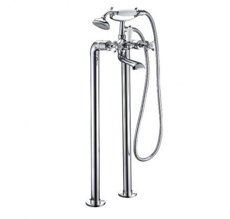 Смеситель для ванны напольный Imprese Cuthna H-10280 stribro