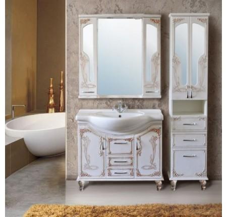 Мебель в ванную комнату Ольвия (Атолл) Barcelona 95 rame (комплект)