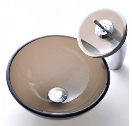 Умывальник стеклянный KRAUS GV-103-14-12мм