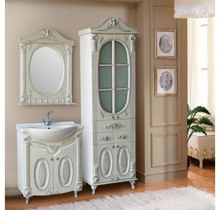 Мебель в ванную комнату Ольвия (Атолл) Napoleon 75 argento (комплект)