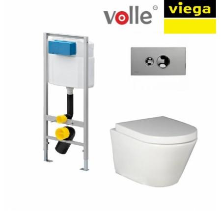 Набор унитаз Volle Nemo+крышка slow-closing+инсталляция Viega Standart 713386 + 1317085 + 1317106