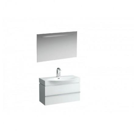 Набор мебели Laufen PALACE тумба с умывальником 8127020001041 90х51 + зеркало с подсветкой 100x62 белый глянец
