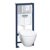 Набор Solido Perfect 39186000 инсталляция Grohe 38772001 + унитаз с крышкой soft-close
