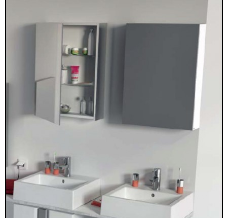 Шкафчик с зеркалом Kolo Twins 88454, 50см