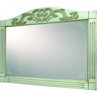 Зеркало Devit Sheffield 5110133WHPB, 80см белая патина