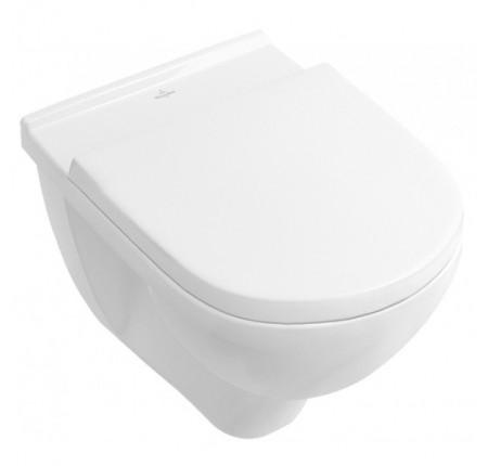 Унитаз подвесной Villeroy&Boch O.Novo Direct Flush 5688HR01 сиденье soft close, короткий 49 см