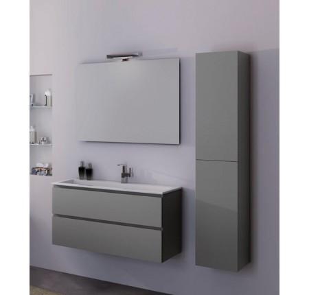 Комплект мебели Devit Fresh 0120121/G, 80см белый/серый
