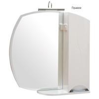 Зеркало Аква Родос Глория 65 см, с пеналом L/R без подсветки