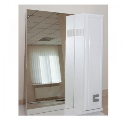 Зеркало Аква Родос Мобис 70 см, с пеналом справа, без подсветки