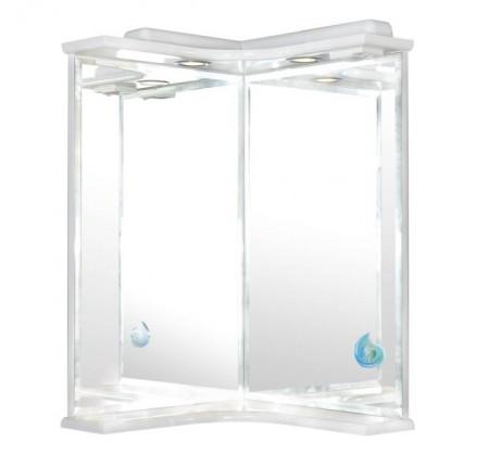 Зеркало Аква Родос Глория угловое 45x45 см, с подсветкой