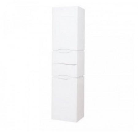 Пенал Аква Родос Венеция 40 см правый с корзиной для белья, подвесной белый цвет