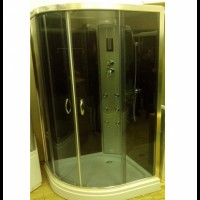 Гидромассажный бокс Atlantis AKL-50PT 100x100x218 белый / черный