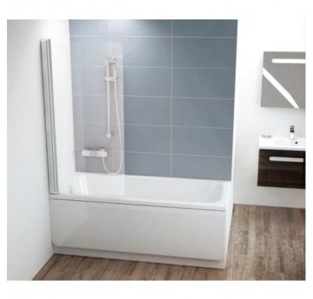Шторка для ванны Ravak CVS1-80 L/R полир.алюминий transparent
