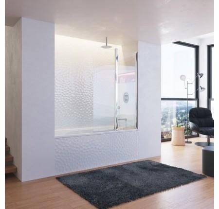 Шторка для ванны Ravak CVS2-100 L/R полир.алюминий transparent