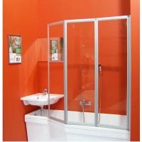 Шторка для ванны Ravak VS3-130 белый transparent (795V0100Z1)