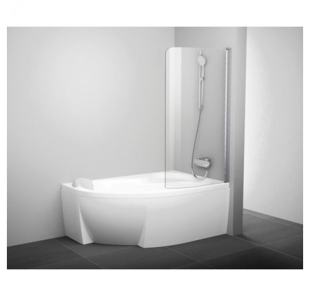 Шторка для ванны Ravak CVSK1 ROSA 140/150 L/R белый transparent